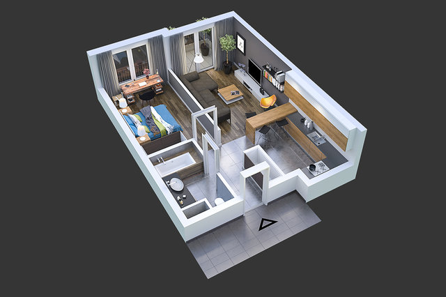 Wizualizacja architektoniczna / AlmaProjekt / / MRRE.PL /
