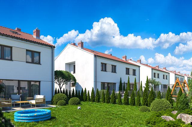 Wizualizacja domu - wizualizacja ogrodu