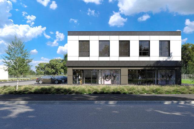 Wizualizacje architektoniczne - Wizualizacja budynku biurowego