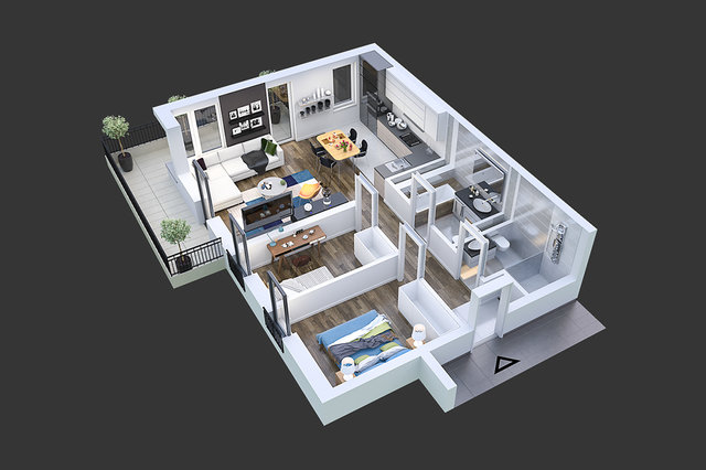 Wizualizacja architektoniczna / Panda Studio /
