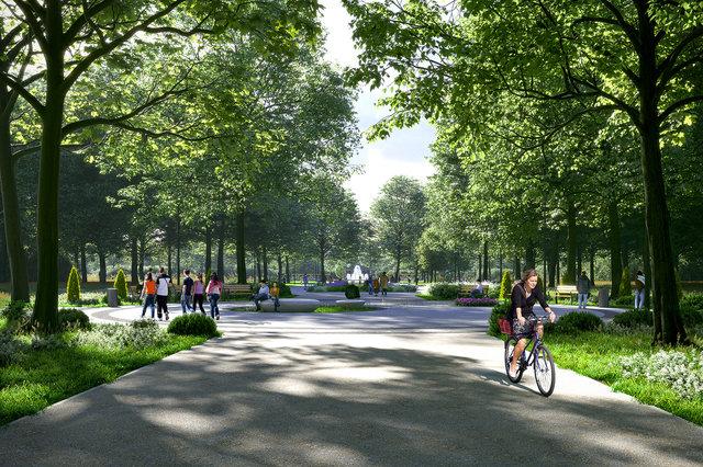 Wizualizacja parku Zielona / AlmaProjekt /