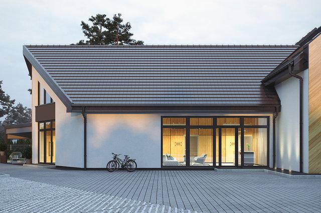 Wizualizacje architektoniczne - Elewacja frontowa (detal)