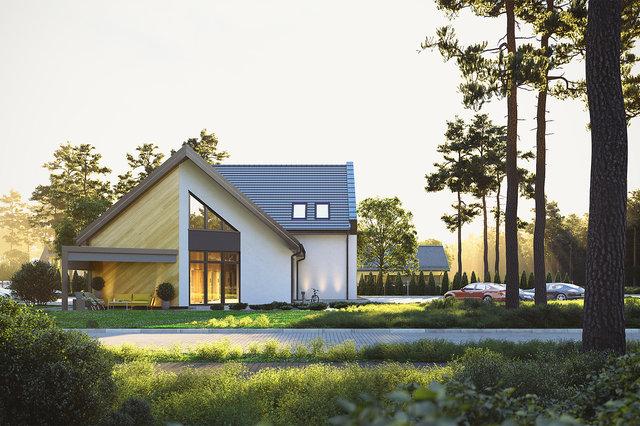 Wizualizacje architektoniczne - Elewacja boczna