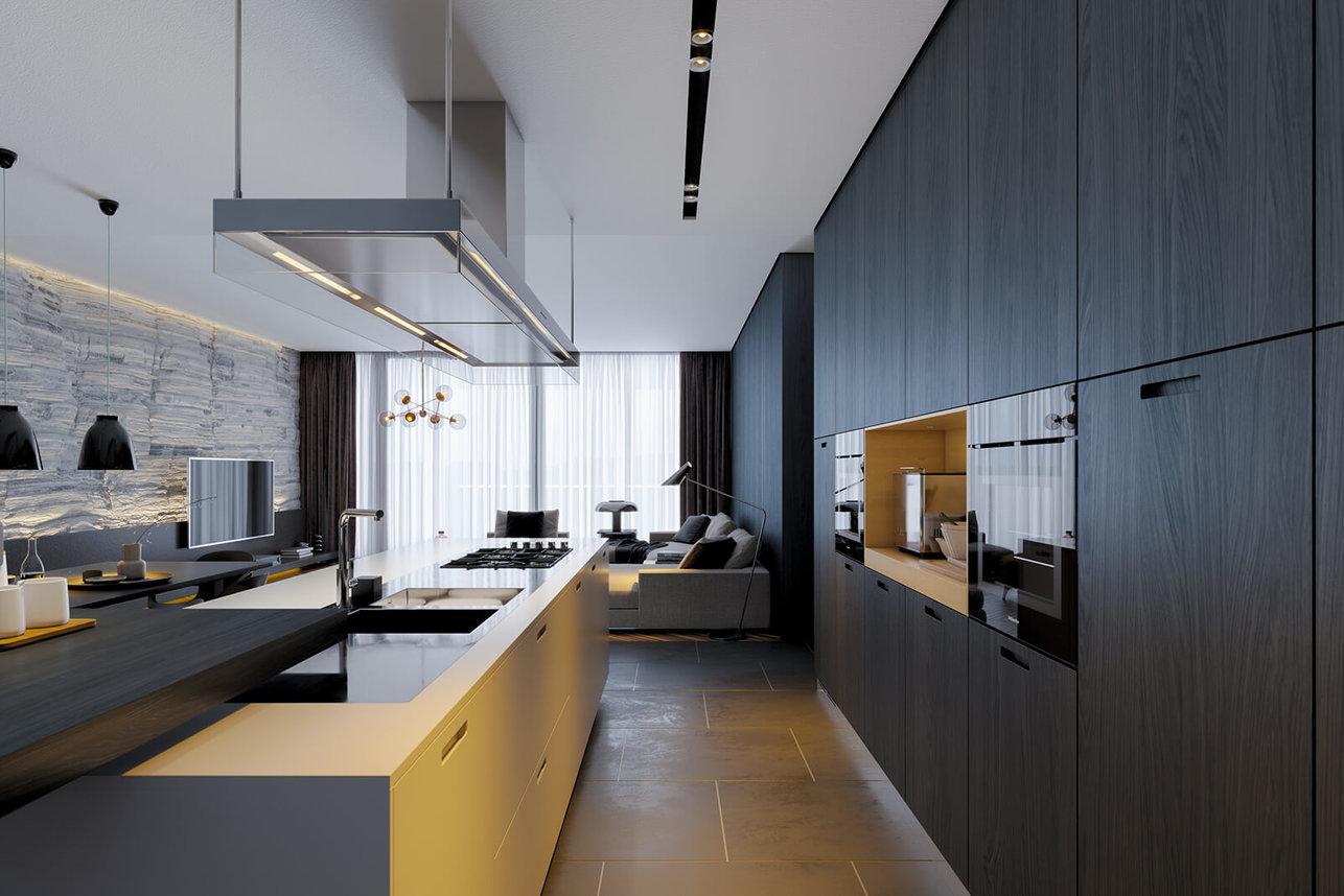 Wizualizacja wnętrz - wizualizacja kuchni