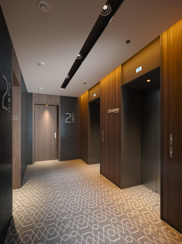 LUXURY HOTEL - Elevator lounge visualization
