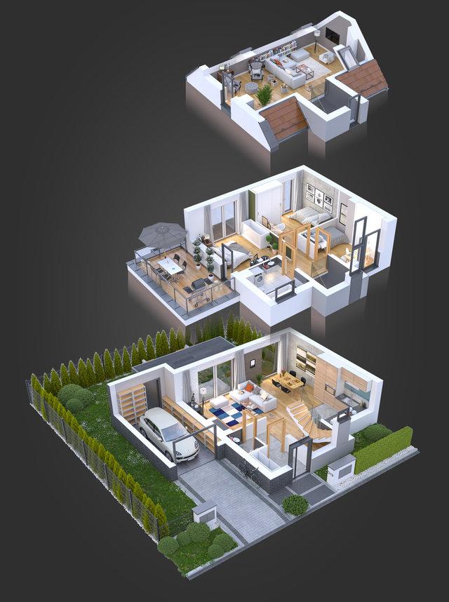Wizualizacja architektoniczna / Mohi.to /