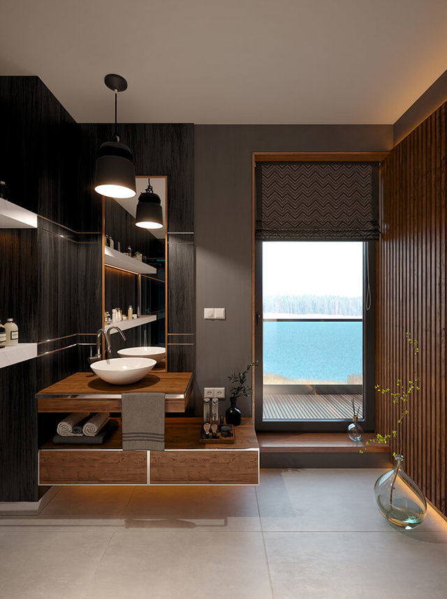 Wizualizacja wnętrz - wizualizacja łazienki