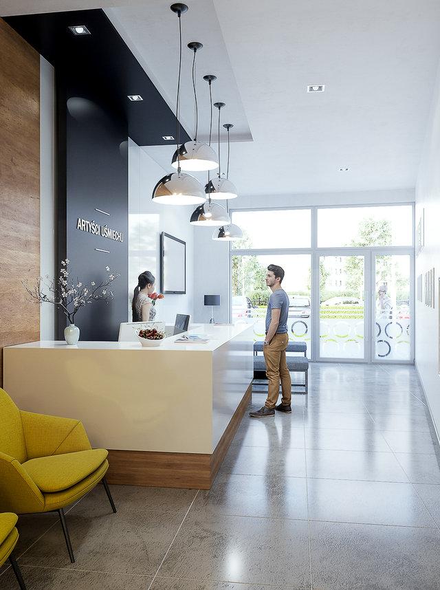 Wizualizacja recepcji hotelowej / MTB Project /