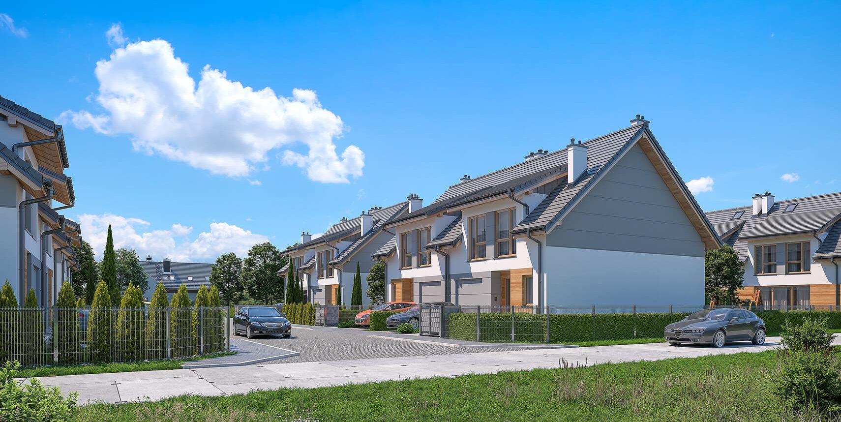 Wizualizacja domu - widok z ulicy