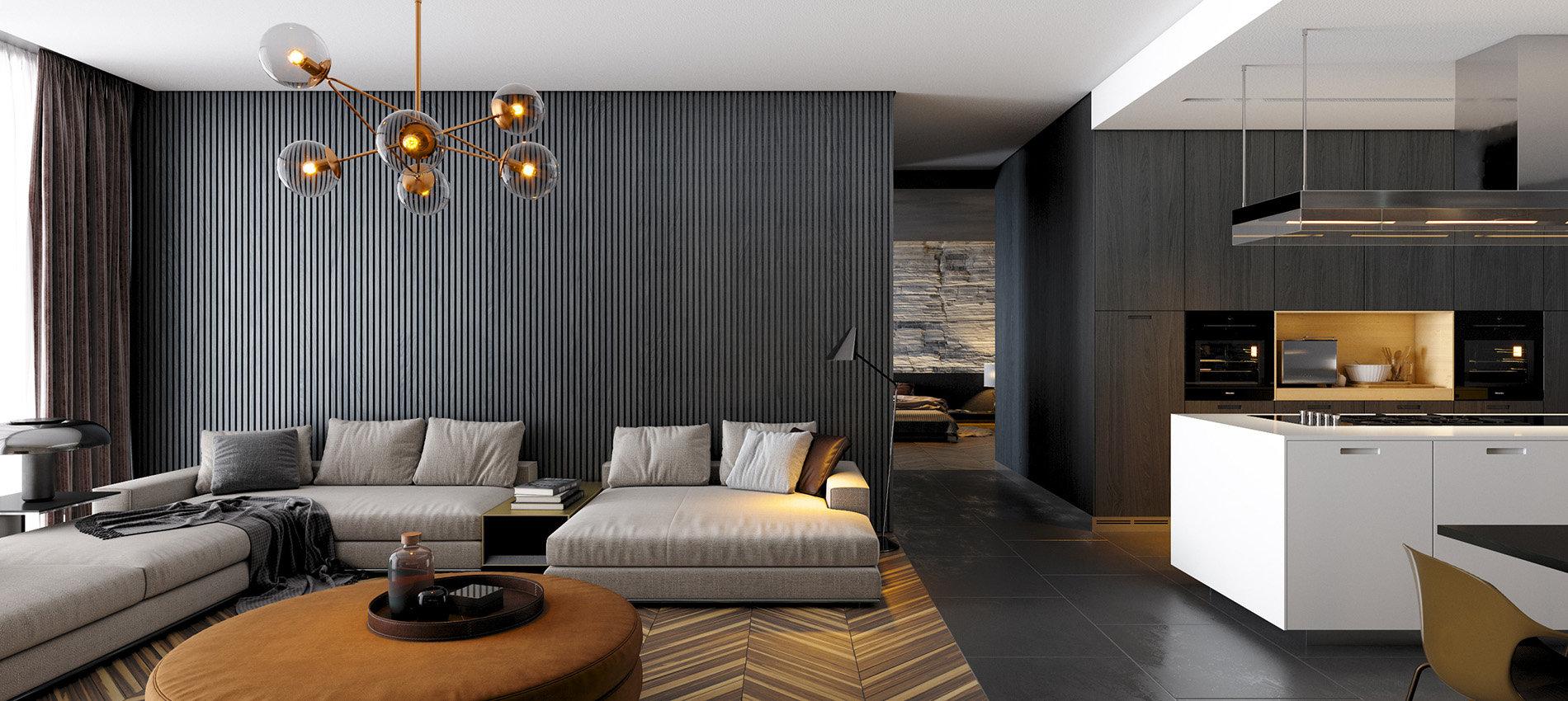 DIAMENT APARTMENT - Living room visualization