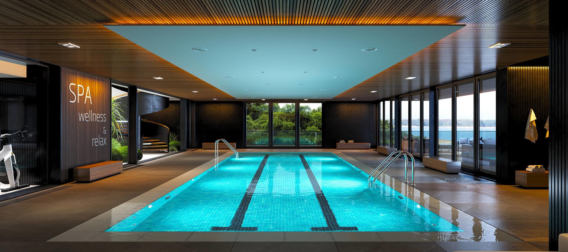 Wizualizacja wnętrz - wizualizacja basenu
